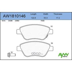 Колодки тормозные передние (AYWIparts) AW1810146