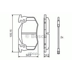 Комплект тормозных колодок, дисковый тормоз (Bosch) 0986466346