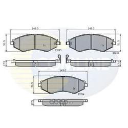 Комплект тормозных колодок, дисковый тормоз (Comline) CBP31189
