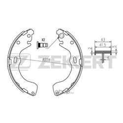 Колодки торм. бараб. зад Ford Maverick II 01- Mazda 626 V 98- Premacy (CP) 99- Tribute (EP) 00- (Zekkert) BK4025