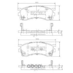 Комплект тормозных колодок, дисковый тормоз (Nipparts) J3603038