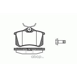 Комплект тормозных колодок, дисковый тормоз (Remsa) 026305
