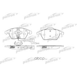 Колодки тормозные дисковые передн CITROEN: C4 04-, C4 купе 04-, PEUGEOT: 307 03-, 307 Break 04-, 307 CC 03- (PATRON) PBP1728