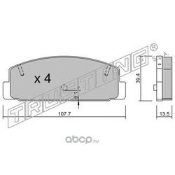 Комплект тормозных колодок, дисковый тормоз (Trusting) 3111