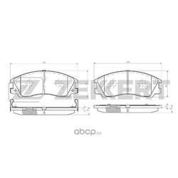 Колодки торм.диск. Hyundai Terracan (HP) 01- FR (Zekkert) BS1808