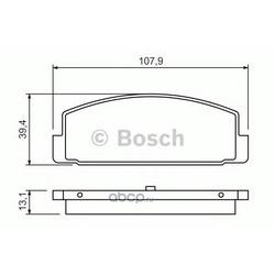 Комплект тормозных колодок, дисковый тормоз (Bosch) 0986424295