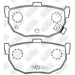 Колодки тормозные дисковые (NiBK) PN2130