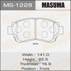 Колодки тормозные (Masuma) MS1228