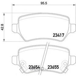 Комплект тормозных колодок, дисковый тормоз (Mintex) MDB2357