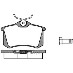 Тормозная колодка с (Remsa) 026300