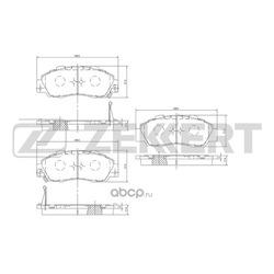 Колодки торм. диск. перед Honda Accord IV-VI 90- CR-V I 95- HR-V 98- Legend II III IV 90- Shut (Zekkert) BS2803