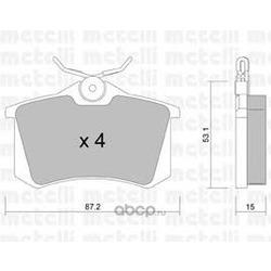 Комплект тормозных колодок, дисковый тормоз (Metelli) 2201000