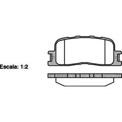 Комплект тормозных колодок, дисковый тормоз (Remsa) 085400