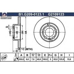 Тормозной диск (GALFER) B1G20901231