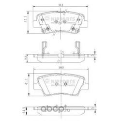 Комплект тормозных колодок, дисковый тормоз (Nipparts) N3610311