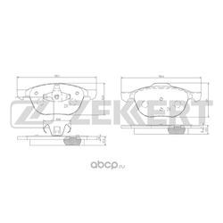 Колодки торм.диск. Ford C-Max 07- Focus II04- / Mazda 3 5 03-/ Volvo C30 /C70 06- II (MS) 04- FR (Zekkert) BS1599