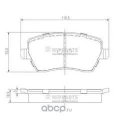 Комплект тормозных колодок (Nipparts) J3601085