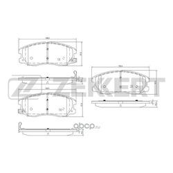 Колодки торм.диск. Chevrolet Captiva 06- / Opel Antara 06- FR (Zekkert) BS1300