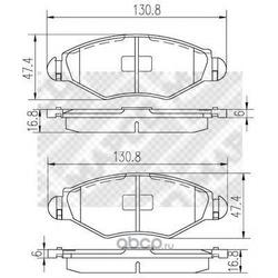 Комплект тормозных колодок, дисковый тормоз (Mapco) 6516