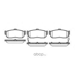 Комплект тормозных колодок, дисковый тормоз (Remsa) 036622