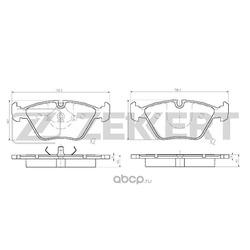 Колодки торм. диск. перед BMW 3 (E36) 94- 3 (E46) 00- 5 (E34) 91- Z3 (E36) 97- (Zekkert) BS1210