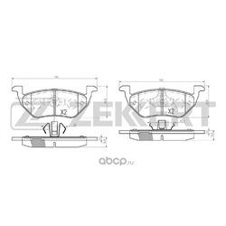 Колодки торм. диск. зад Ford Maverick II 01- Mazda Tribute (EP) 04- (Zekkert) BS2848