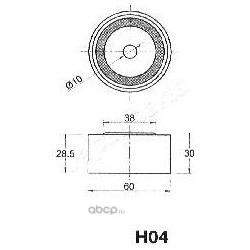 Устройство для натяжения ремня, ремень ГРМ (Japanparts) BEH04