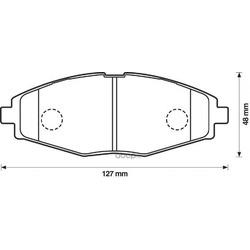 Комплект тормозных колодок, дисковый тормоз (Jurid) 572402J