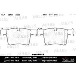 Колодки тормозные BMW 1 F20/3 F30/X3 F25 10- передние (Miles) E100315