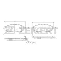Колодки тормозные (Zekkert) BS1822