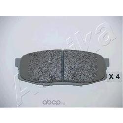 Колодки тормозные дисковые задние, комплект (Ashika) 5102221