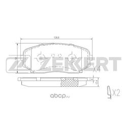 Колодки торм. диск. перед Mazda CX-7 (ER) 07- (Zekkert) BS1228