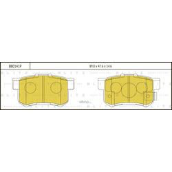 Колодки тормозные дисковые (Blitz) BB0141P
