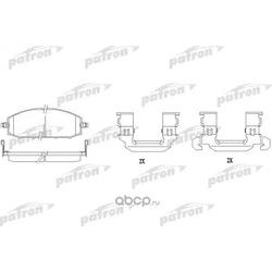 Колодки тормозные дисковые передн NISSAN: PATROL GR II 97- (PATRON) PBP1577