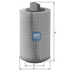 Воздушный фильтр (UFI) 2748600
