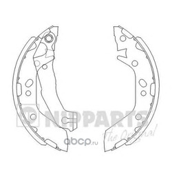 Комплект тормозных колодок (Nipparts) J3500516
