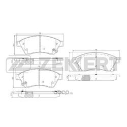 Колодки тормозные дисковые, комплект (Zekkert) BS1301