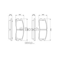 Комплект тормозных колодок, дисковый тормоз (Bosch) 0986461145