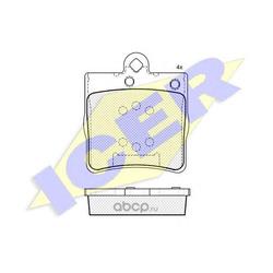 Комплект тормозных колодок, дисковый тормоз (Icer) 181311