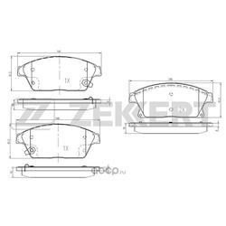 Колодки торм.диск. Chevrolet Cruze (J300) 09-/ Opel Astra J 09- Mokka 12- FR (Zekkert) BS1286