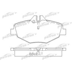 Колодки тормозные дисковые передн MERCEDES-BENZ: E-CLASS 02-, E-CLASS T-Model 03- (PATRON) PBP1414