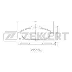 Колодки торм. диск. перед Peugeot 3008 09- 308 CC 09- 308 (SW) 07- 5008 09- (Zekkert) BS2825