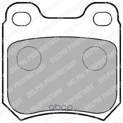 Колодки тормозные дисковые, комплект (Delphi) LP590