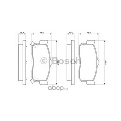 Комплект тормозных колодок, дисковый тормоз (Bosch) 0986461144