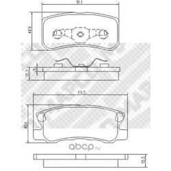 Комплект тормозных колодок, дисковый тормоз (Mapco) 6752