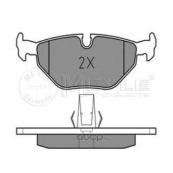 Комплект тормозных колодок, дисковый тормоз (Meyle) 0252169117