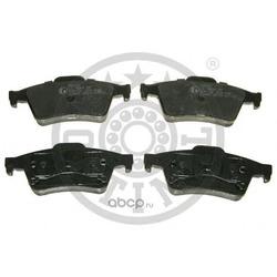 Колодки тормозные дисковые задние, комплект (Optimal) 84200