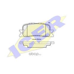 Комплект тормозных колодок, дисковый тормоз (Icer) 181706