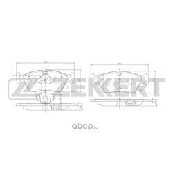 Колодки торм. диск. перед BMW 1 (E81) 04- 1 (E82) 09- 1 (E88) 08- 3 (E90) 05- (Zekkert) BS2828