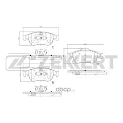 Колодки торм.диск. Renault Duster 10- Fluence 10- Megane CC 10- Megane III 10- FR (Zekkert) BS2800